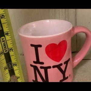 Cool pink NY coffee mug. Used